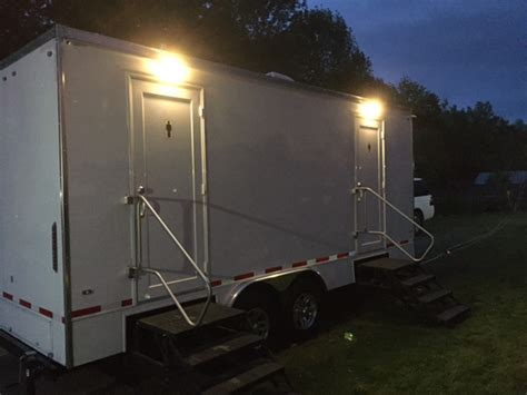 luxury portable bathroom rentals luxury portable restroom trailers for weddings or events