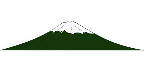 vector graphic volcano fuji mountain peak snow