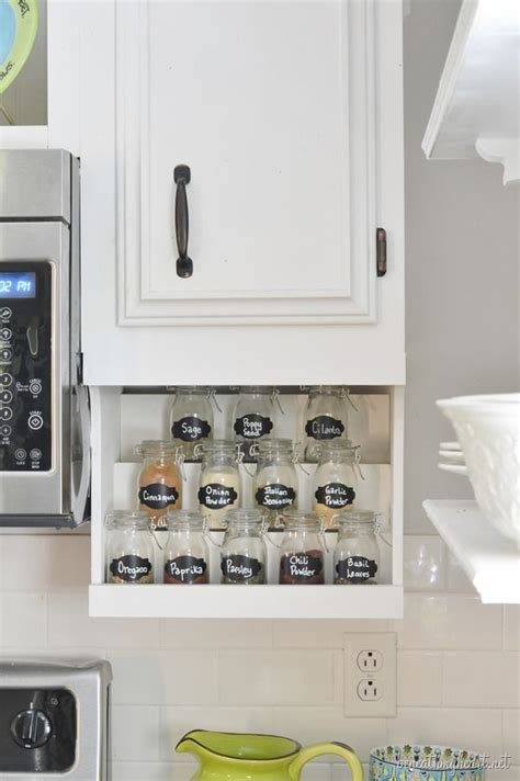 diy spice rack organizing cleaning