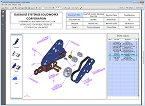 Solidworks Mbd Technical Communication Packages Solidworks Solidworks 3d Pdf Template