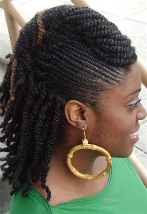 braided pinup hairstyles braided mohawk hairstyles for black women