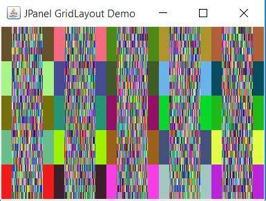 gridlayout gap java swing cascaded jpanels in gridlayout causes