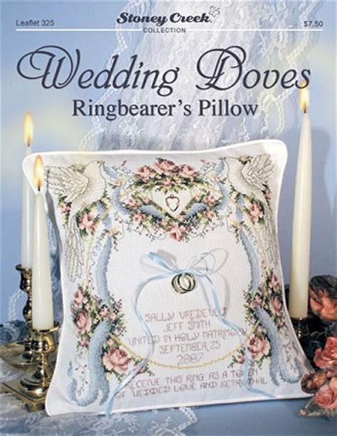 wedding doves ringbearer s cross stitch pillow