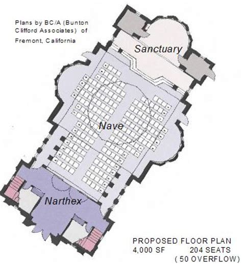 parts of a cathedral floor plan building fund
