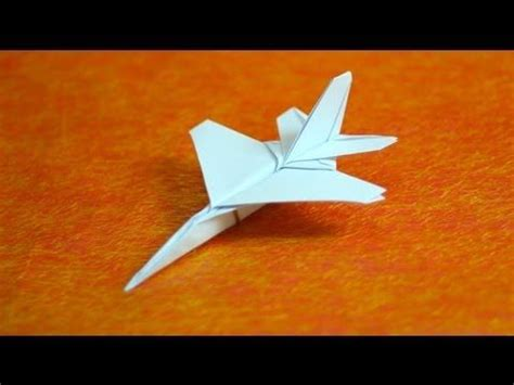 Origami Paper Airplane - how to make origami f16 jet fighter paper airplanes step