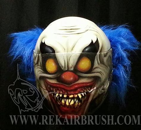 New Helm Anak Minion the new killer clown custom helmet all on me with this lid be prepared to scare