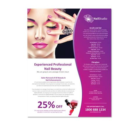 free hair salon flyer templates nail salon flyer template dlayouts graphic design