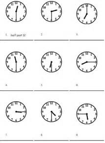Telling the time basic exercise half past a quarter and o clock
