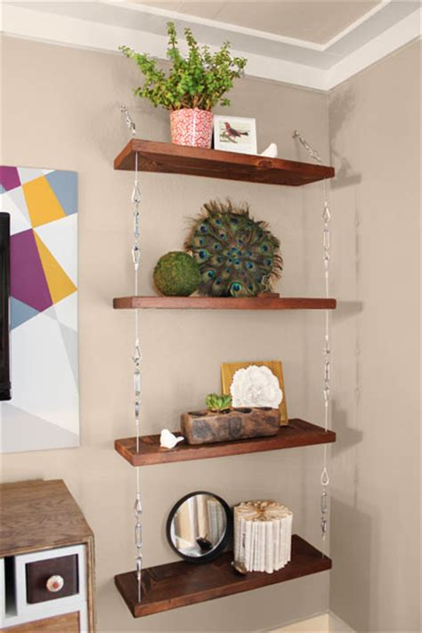 9 creative low cost upgrades from our favorite bloggers san 9 cable and turnbuckle hanging shelves 9 creative low
