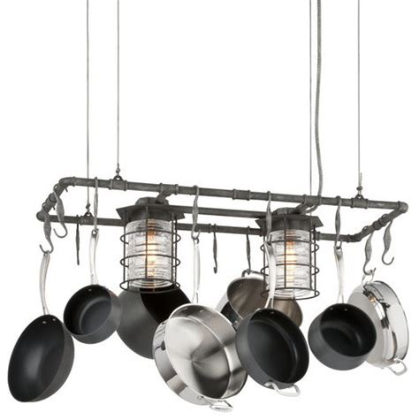 Kitchen Island Pot Rack Troy Lighting Brunswick 2 Light Kitchen Island Pot Rack