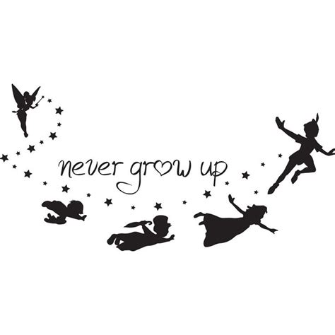 peter pan silhouette tattoo never grow up pan silhouette search