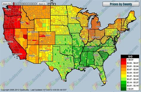 map of us gas prices heat map gas prices in the u s busdriverjim