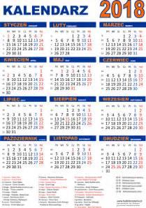Kalendarz Ze świętami Na 2018 Rok Kalendarz Na 2018 Rok Do Druku Pdf Edukacyjne Bajki Do