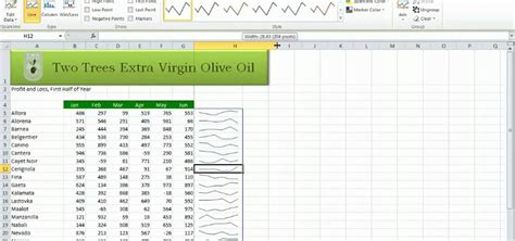 excel 2010 sparklines tutorial how to create sparklines in microsoft excel 2010