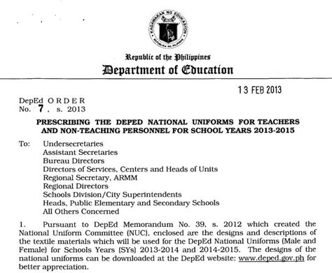 Memo Sle In Tagalog deped memo for teachers personnel for 2013 2015 philippine news