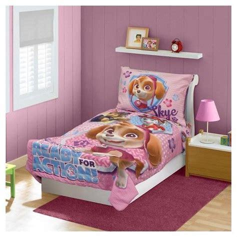 paw patrol bed set paw patrol skye 4 pc toddler bed set pink paw patrol