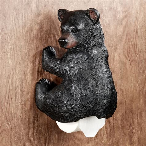 Bear Toilet Paper Holder | stinkin bear wall mounted toilet paper holder