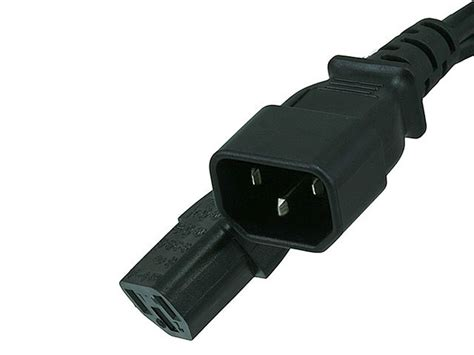 monoprice 6ft 18awg power extension cord cable w 3 conductor pc mon 13a iec 320 c14 to iec