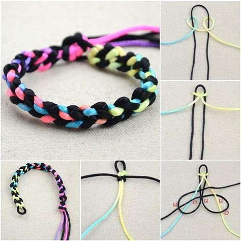how to diy simple two string bracelet