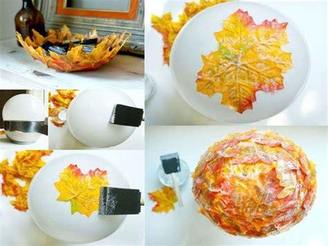 decorar hoja arbol decorar con hojas secas las 9 mejores ideas