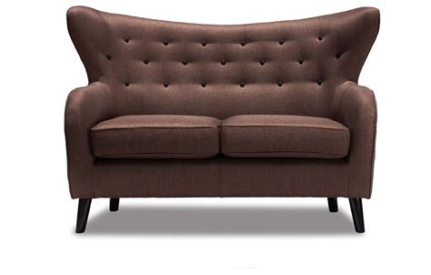 wilfred couch brown 2 seater sofa lounge furniture out out