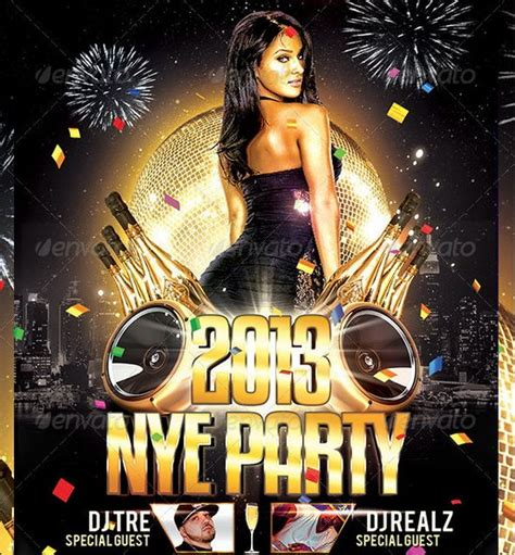 Awesome 2013 New Year Event Flyer Templates Ginva Celebration Flyer Template