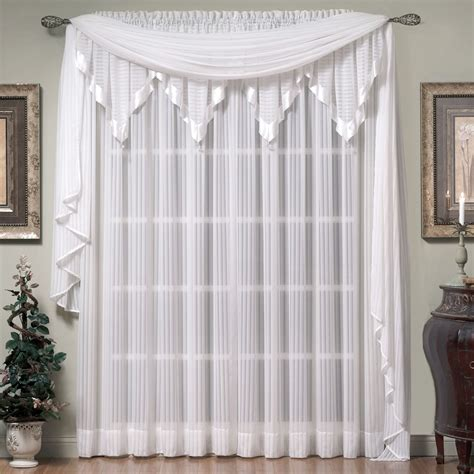 window curtain scarf nimbus stripe scarf valance and window treatment