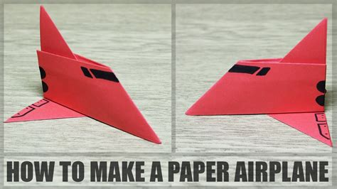 How To Make Airplane Out Of Paper - how to make a simple paper plane diy paper airplane