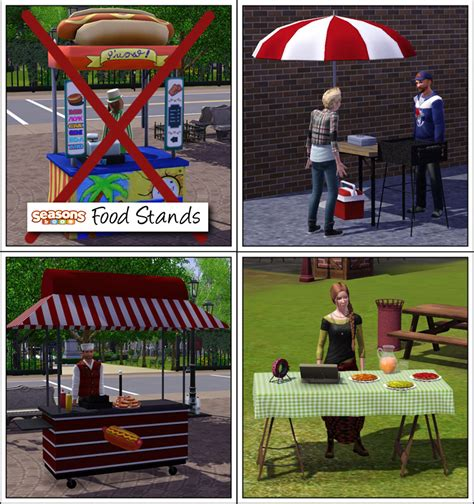 food stand around the sims 3 custom content downloads objects food stand