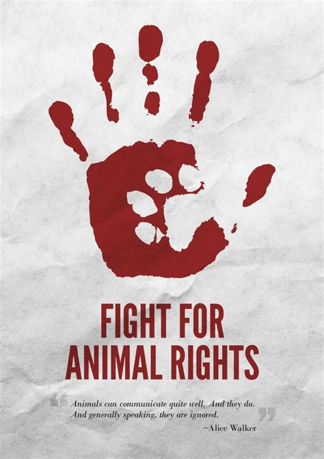 design rights fight for animal rights poster ethical design
