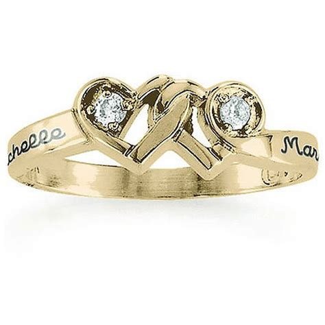 keepsake personalized loving promise ring with diamonds