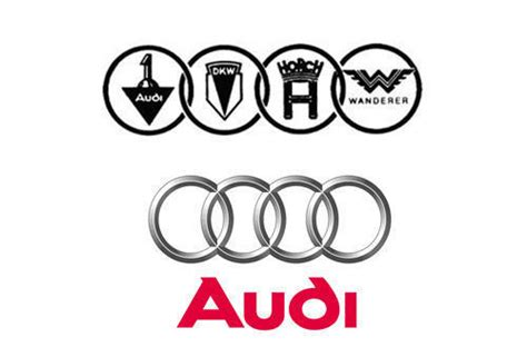 audi 4 rings meaning audi logo design history and evolution