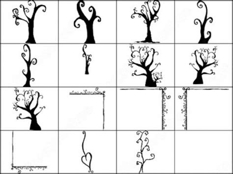 doodle pohon corat coret 15 pohon sikat photoshop brushes photoshop