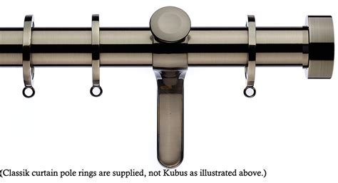 curtain poles brushed steel integra inspired allure 35mm curtain pole in a brushed