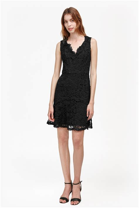 evening dresses dress with peplum hem and lace inserts bloomsbury lace peplum hem dress collections french
