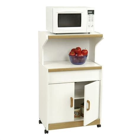 Microwave Cabinet Shelf by Ameriwood Microwave White Oak Kitchen Cart