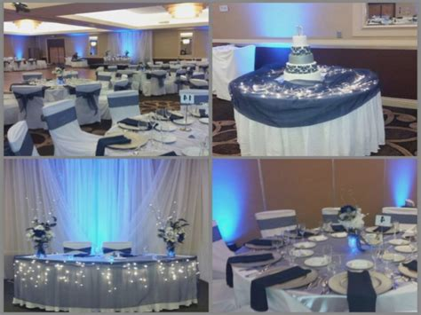 blue silver and white wedding centerpieces archives