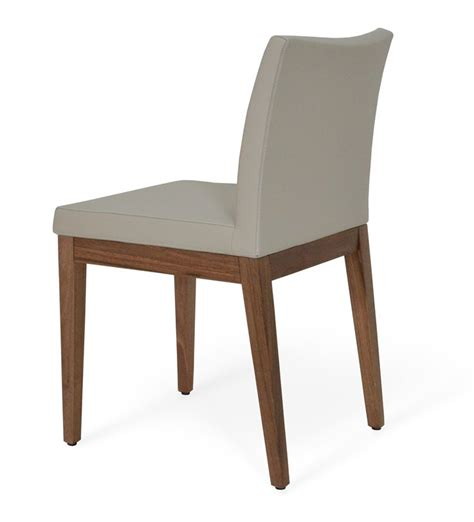 wood dining chair polished microfiber 407 00