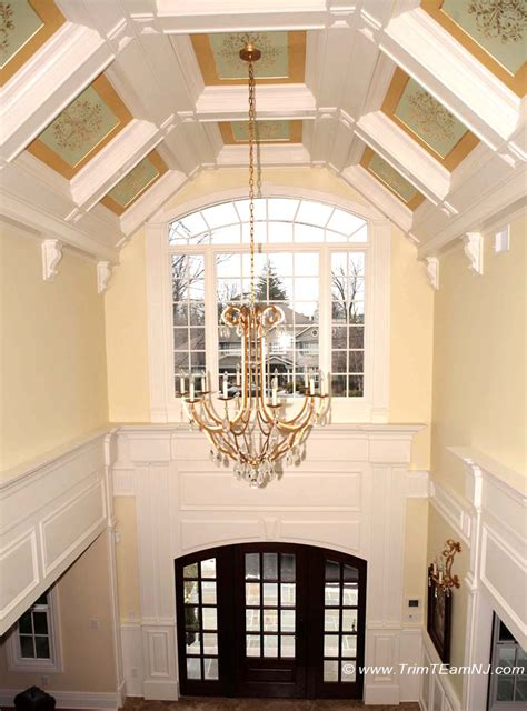 Coffered Vaulted Ceiling Coffered Ceilings And Beams Trim Team Nj Woodwork
