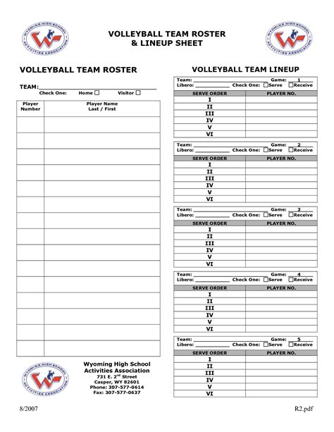 free printable volleyball lineup cards pin volleyball lineup sheet on pinterest