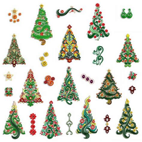 christmas designs enchanting christmas trees machine embroidery designs by