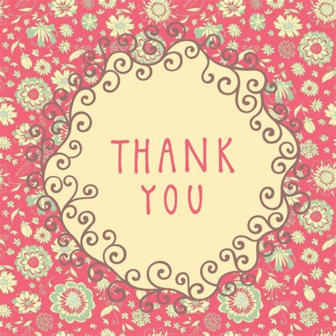 background thank you pink floral thank you background vector free download