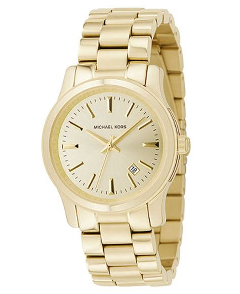 michael kors s runway gold ion plated