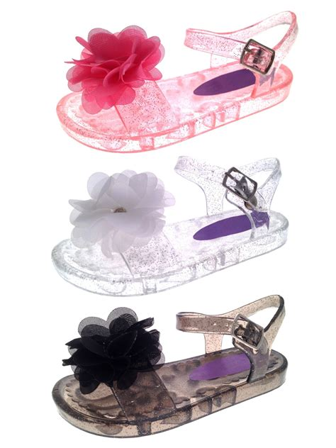 Flat Shoes Pink Bunga Flowers Jelly Flat Shoes Fse022 jelly sandals shoes flat summer flower