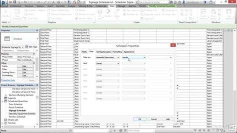 revit tutorial schedule schedule signage