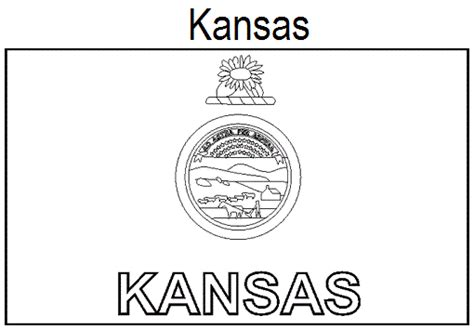 geography blog kansas state flag coloring page