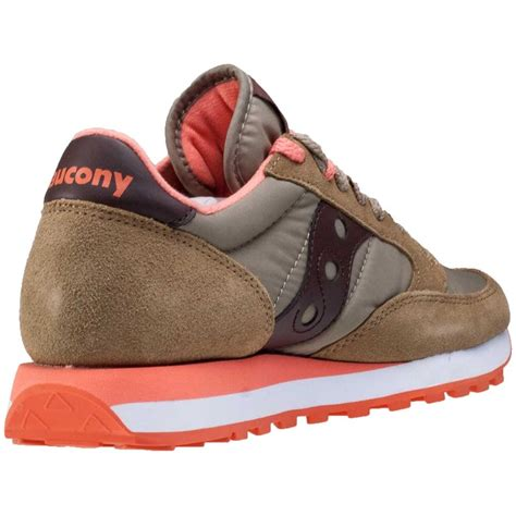saucony jazz original womens trainers in olive brown