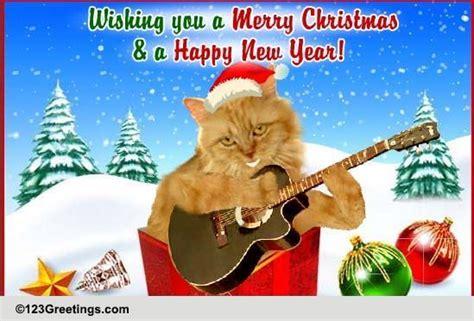 christmas carol singing cat  humor pranks ecards