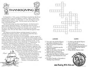 printable thanksgiving crossword puzzles thanksgiving crossword puzzles for pictures images