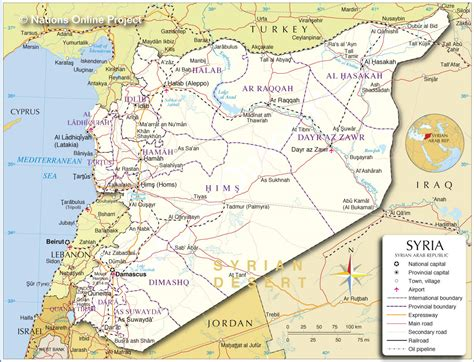 map of syria and surrounding countries political map of syria nations project